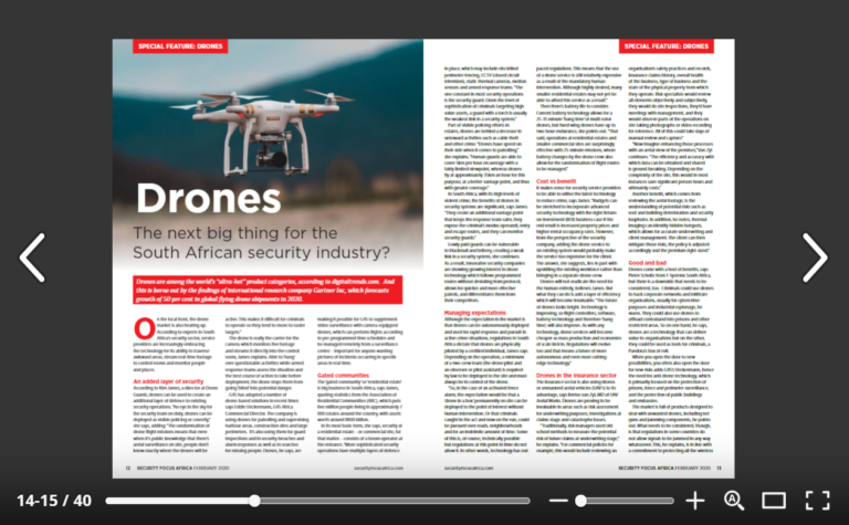 Drone Guards in Security Focus Africa Magazine